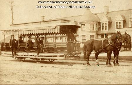 Union Station Horse Trolley, Portland, ca. 1892