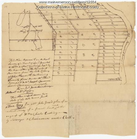 Land granted to William and Charles Cushing, Hallowell, 1771