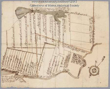 Plan of lots on the Sheepscot River, Alna, 1798