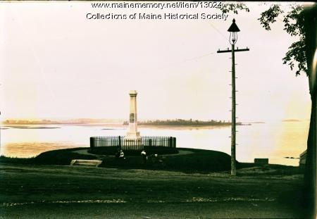 Cleeve-Tucker Memorial, Eastern Promenade, Portland, ca. 1900
