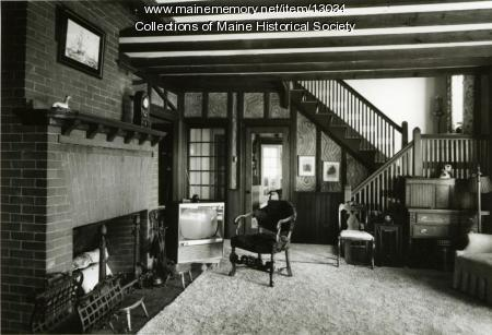 Living room, Brown-Donahue House, Cape Elizabeth, ca. 1962