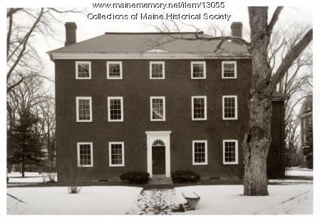 South doorway, Massachusetts Hall, Bowdoin College, 1962