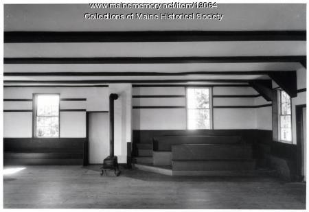 Meeting room, Meeting House, Sabbathday Lake Shaker Community, 1962