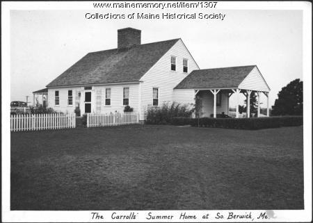 Carroll summer home, South Berwick, 1937