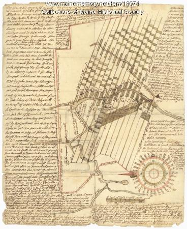 Manuscript map of Kennebec River area, 1771
