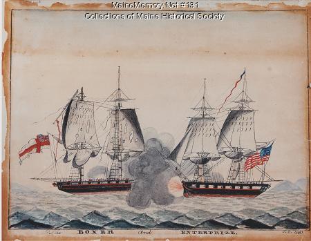 "The ""Boxer"" and ""Enterprise,"" Monhegan, 1831"