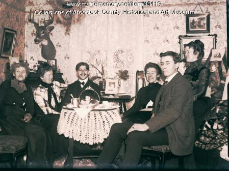 Tea at French House, Houlton, c. 1900