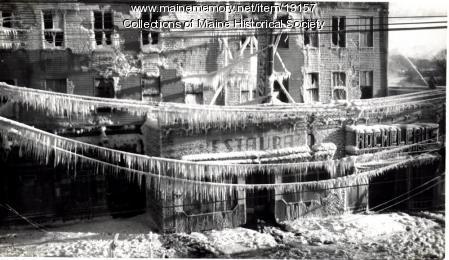 Fire, Warren Block, Westbrook, Feb. 13, 1942