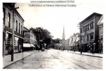 Main Street, Westbrook ca. 1920