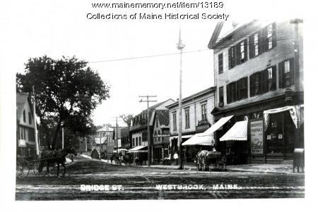 Bridge Street, Westbrook, ca. 1900