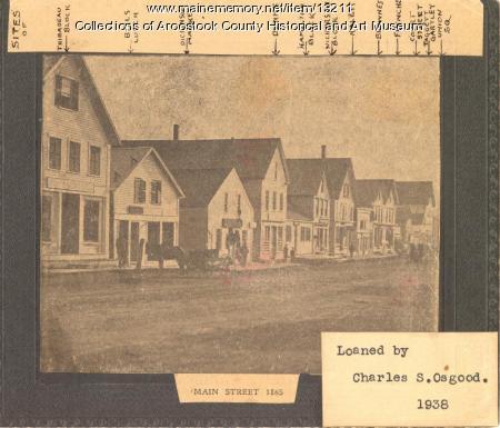Houlton Main Street, 1865