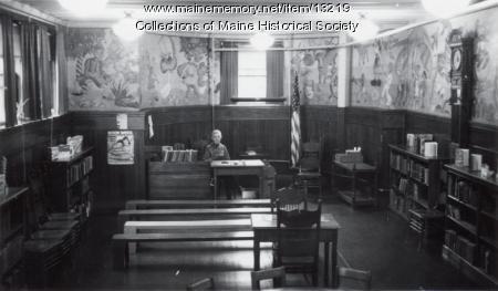 Walker Memorial Library children's room, Westbrook, 1943