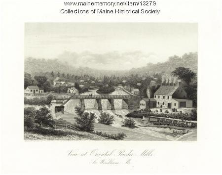 Oriental Powder Mills, South Windham, ca. 1855