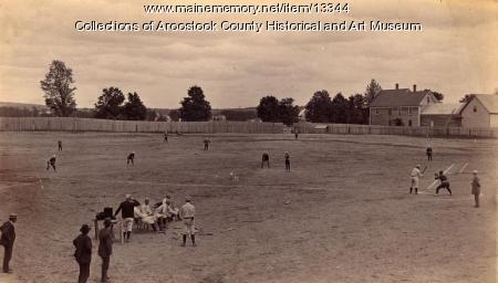 Houlton-Portland baseball game, Houlton, ca. 1895