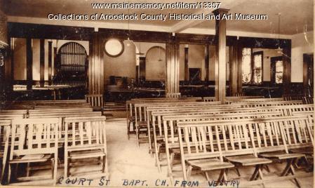 Interior of the Court Street Baptist Church, Houlton