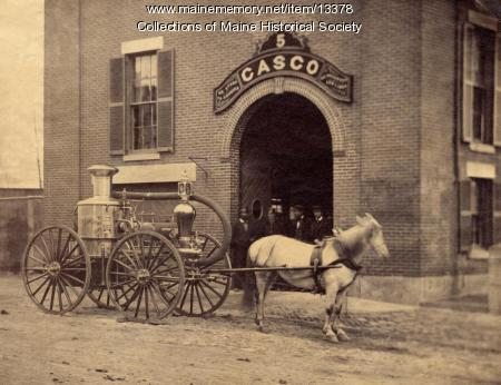 Greyhound Fire Engine, Portland Company, 1864