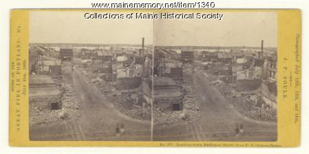 Exchange Street after 1866 fire, Portland