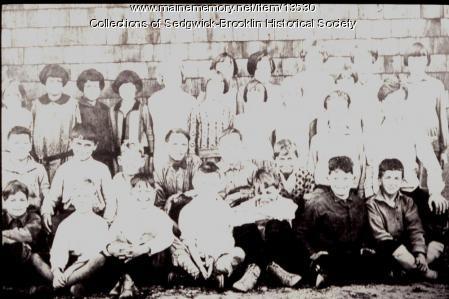Brooklin Corner School Group, Brooklin, ca. 1930