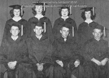 Brooklin High School Graduation Class, 1949