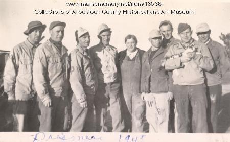 Prisoners of War in the farm field, Houlton, 1945