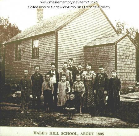 Hale's Corner School, Brooklin, 1898