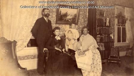 E. B. White and family, Houlton, ca. 1895