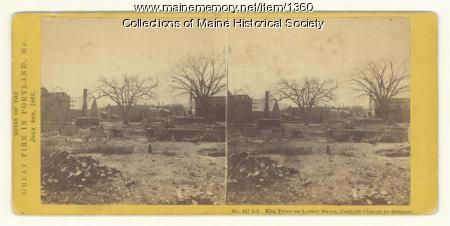 Great Fire ruins, Portland, 1866