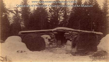 Crandall's Lumber Camp Hovel, 1889