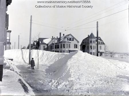 Snowdrift on Morning Street, Portland, 1898