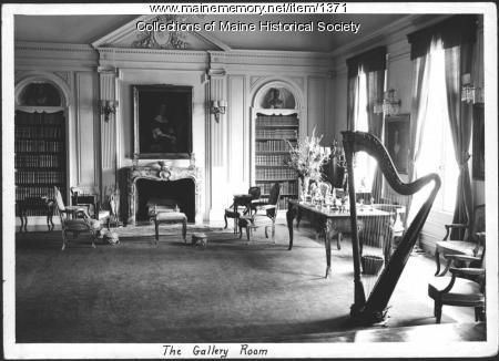 Gallery room, Seawood, Kennebunkport, 1938