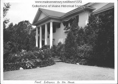 Front entrance, Booth Tarkington home, Kennebunkport, 1938