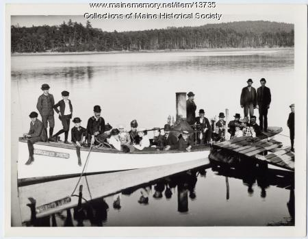 Steamboat on Mousam Lake, ca. 1900