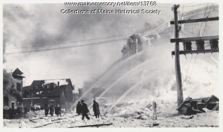 Galt Block Fire, Portland, 1914