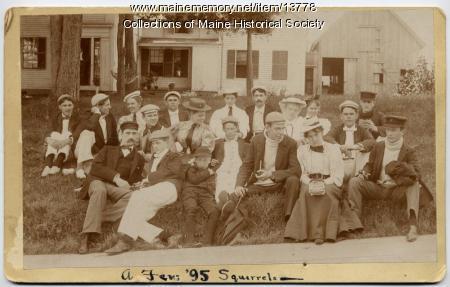 Friends at Squirrel Island, 1895