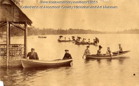 Boating on Nickerson Lake, c. 1895