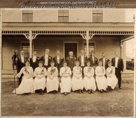 Houlton Grange degree team, Houlton, 1919