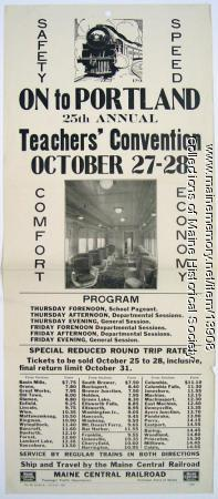State Teachers' Convention train excursions, 1927