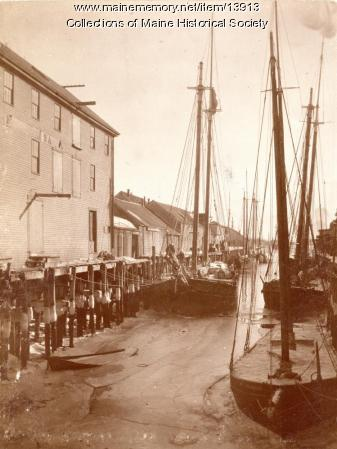 Portland waterfront, ca. 1900