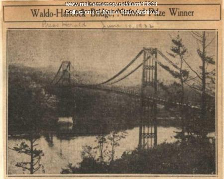 Waldo-Hancock Bridge Dedication June 9, 1932