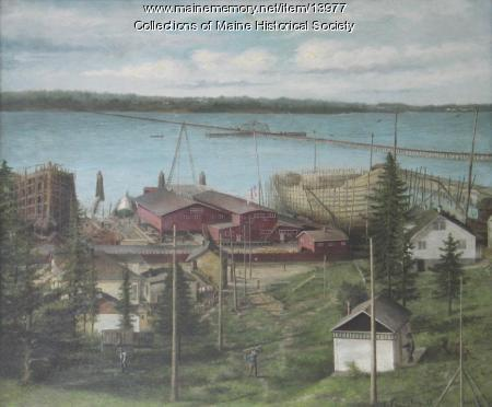 Russell Shipbuilding Company yard, Portland, 1919