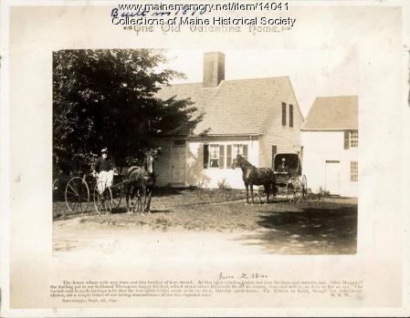 Old Valentine Home, Westbrook, 1892
