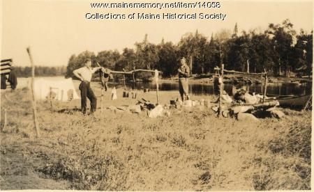 Camp on West Branch, 1911