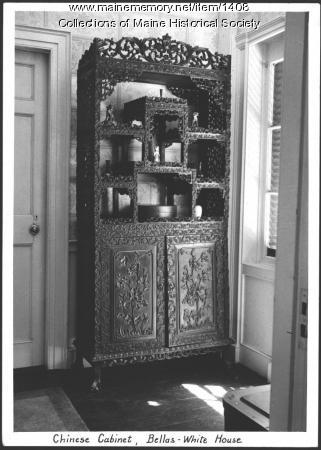 Chinese cabinet, Bellas-White House, Wiscasset