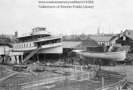 Maine Memory Network - Barbour Boat Yard in Brewer