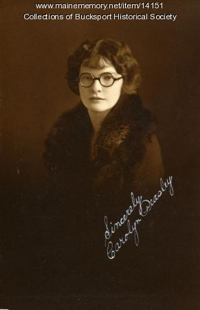 Caroline Peasley, Bucksport, ca. 1924