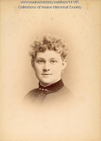 Alice Harford Nelson, Portland, 1885