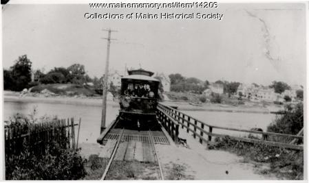 Street railway car, Kittery, ca. 1903