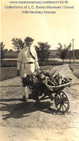 Fresh vegetables, Good Will Homes, ca. 1900