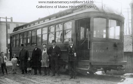 Atlantic Shore Line Railway car, South Berwick, c. 1910