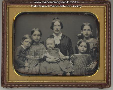 Lucretia Day Sewall and children, Portland, ca. 1849